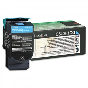 Original Lexmark C540H1CG Cyan Toner Cartridge